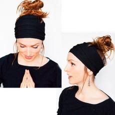 Soft Women Elastic Stretch  Running Wide Hairband Head Wrap Yoga Headband Turban