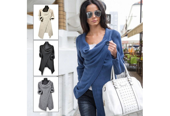 Hot Sale Women Casual Coat Long Sleeve Blouse Tops Women Cotton Solid Kintted Sweater S-XXL