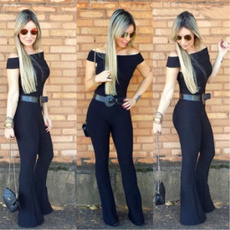 bodycon jumpsuits, cottonblended, short sleeves, womenplaysuit