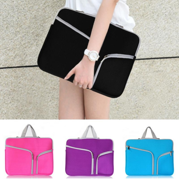 Picture of Notebook Laptop Sleeve Case Carry Bag Pouch Cover For 11 13 15 Macbook Air/pro Portable Zipper Laptop Bag