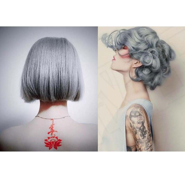 1PC 100ml Permanent Super Hair Dye CREAM GRAY COLOR (Color: Grey)