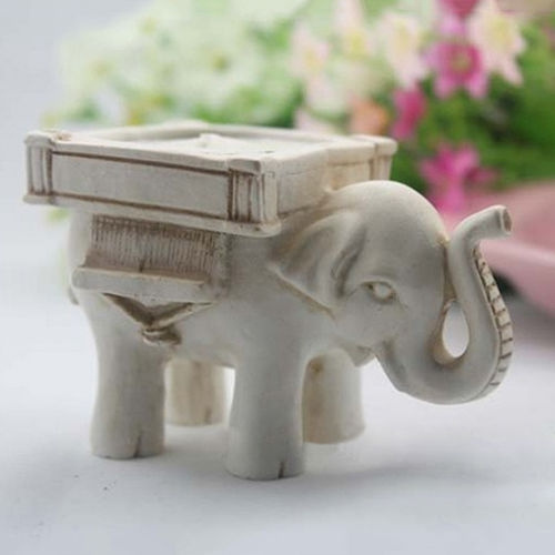 Wish Lucky Elephant Candle Holder Candlestick Wedding Favor