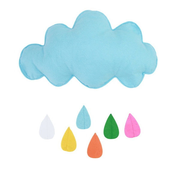 Children Teepees Kids Play Tent Decoration Tent Props Toy Raining Clouds Water Drop  Boy Girl kids Baby Room Bed Hanging Toys
