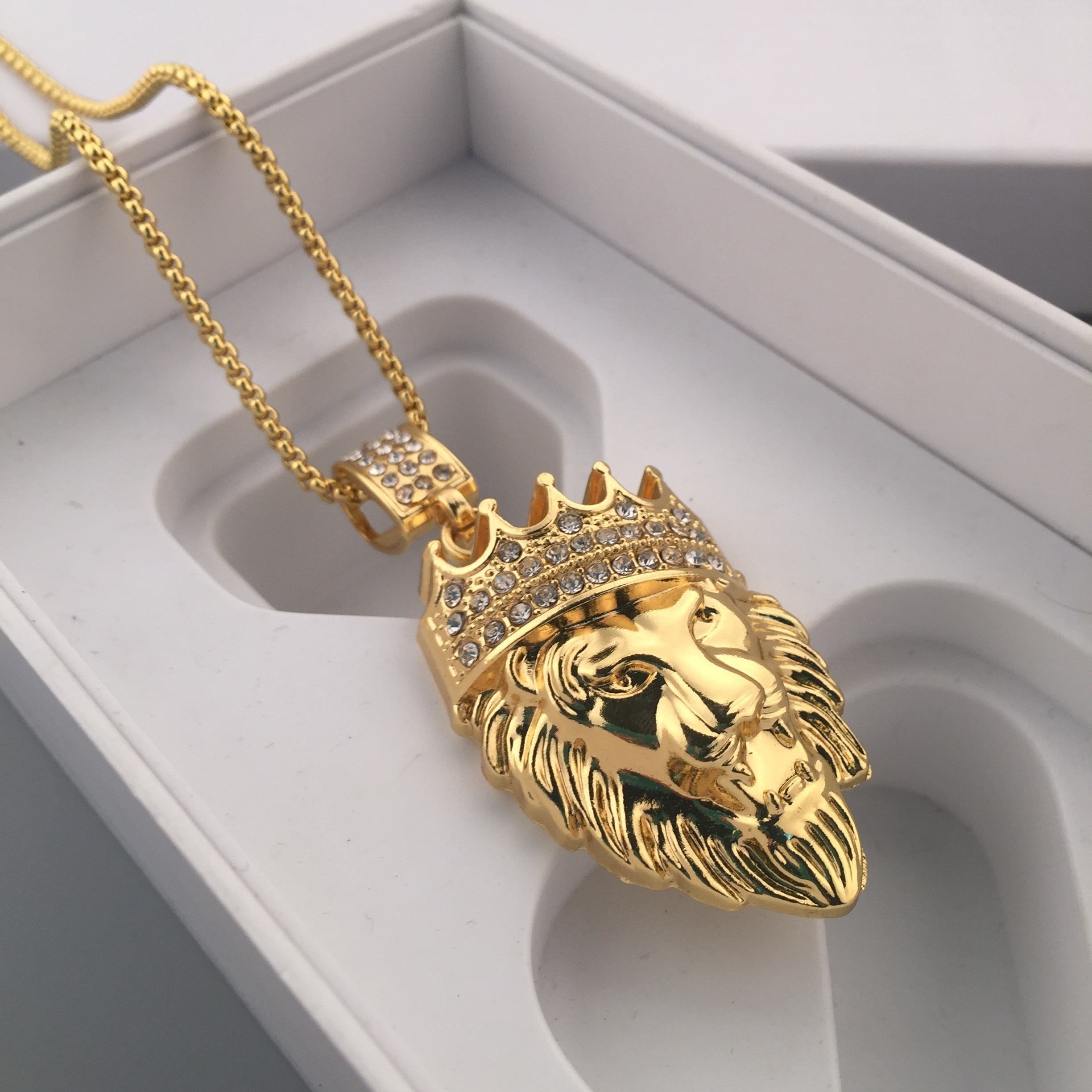 necklace image product of head lion nicole jay the pendant