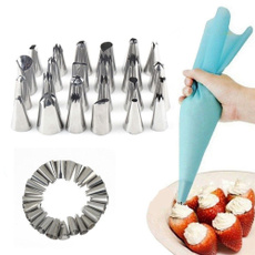 24Pcs Tools Hot Sell Sugarcraft Kitchen Cupcake Decorating Mould Icing Piping Flower Nozzles Pastry Tips