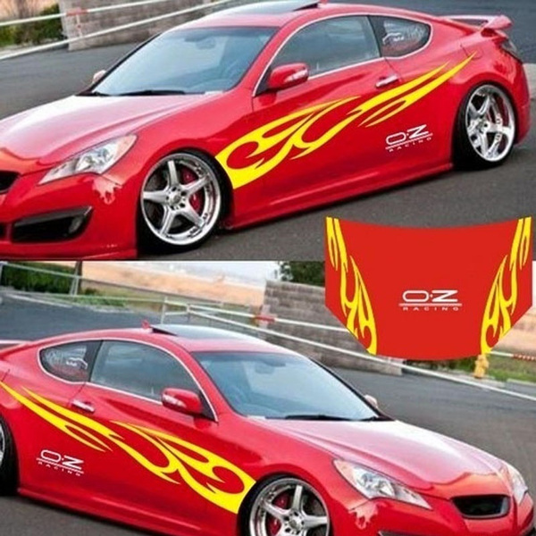 Waterproof Car Decal Vinyl Graphics Side sticker Flame Body Decal For Vehicles