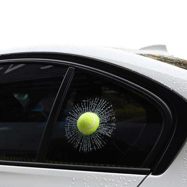3d Stereo Personality Funny Creative Simulation Car Stickers Rear Windshield Glass Rear Window Stickers Modified Baseball Tennis