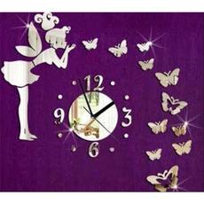 Home Decor, Clock, mirrorwallclock, Wall Clock