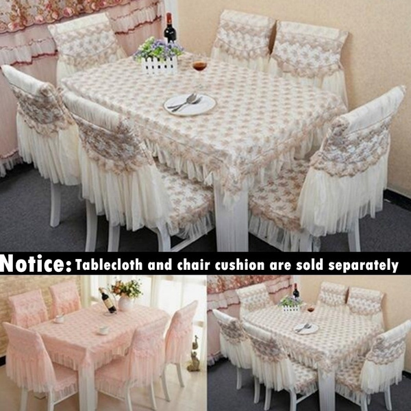 Incredible Fashion Dining Table Cloth Chair Covers Cushion Tablecloth Dining Table Chair Cover Table Bundle Cushion Lace Embroidered Weekly Best Sale Pabps2019 Chair Design Images Pabps2019Com