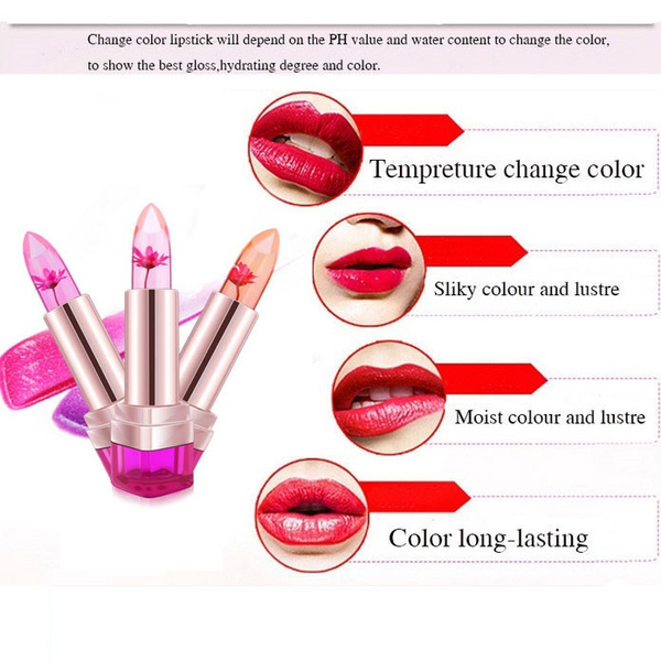 1 PCS Brand Secret Jelly Lipstick Makeup Beauty Flower Lipblam Not Fade Make Up Lip Gloss Double Nursing Natural Protection