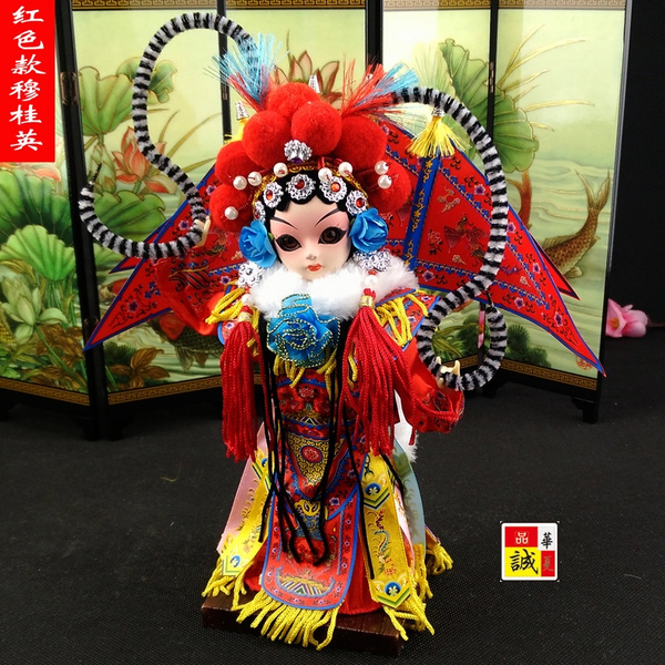 Chinese styleHuman Beijing large silk doll gift Beijing Peking Opera doll  ornaments abroad cultural gifts