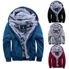 Gray, hooded, Winter, Fashion Hoodies