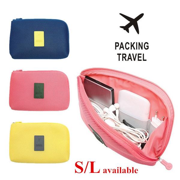 Picture of Unisex Portable Storage Bag Digital Gadget Devices Usb Cable Earphone Pen Travel Bag Cosmetic Handbags Makeup Case Mini Bags