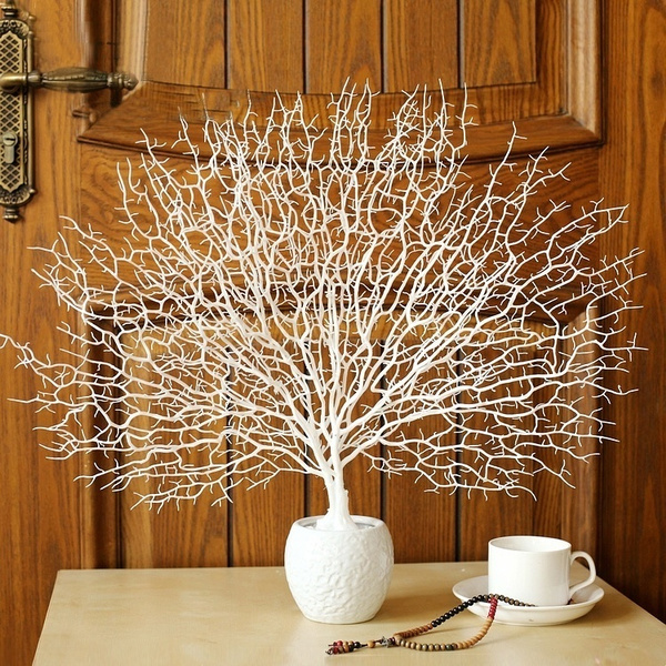 Picture of Artificial Peacock Coral Tree Branches Home Wedding Aquarium Landscaping Decorsize45cm