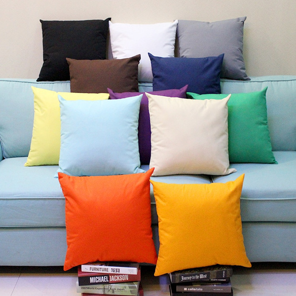 Picture of 40/45/50/55/60cm X 40/45/50/55/60cm Solid Suede Nap Cushion Cover Bed Sofa Throw Pillow Case Home Decor