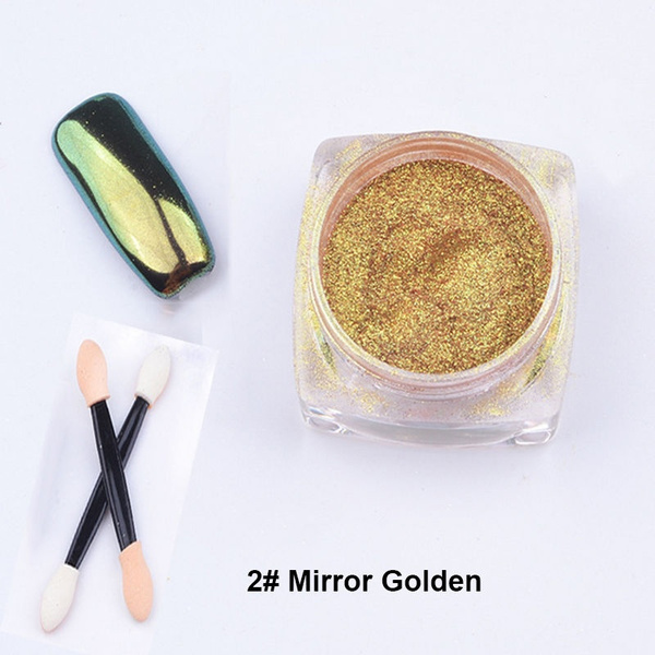 Wish | Mirror Chrome Effect for Nails Shining Magic nails pigment ...