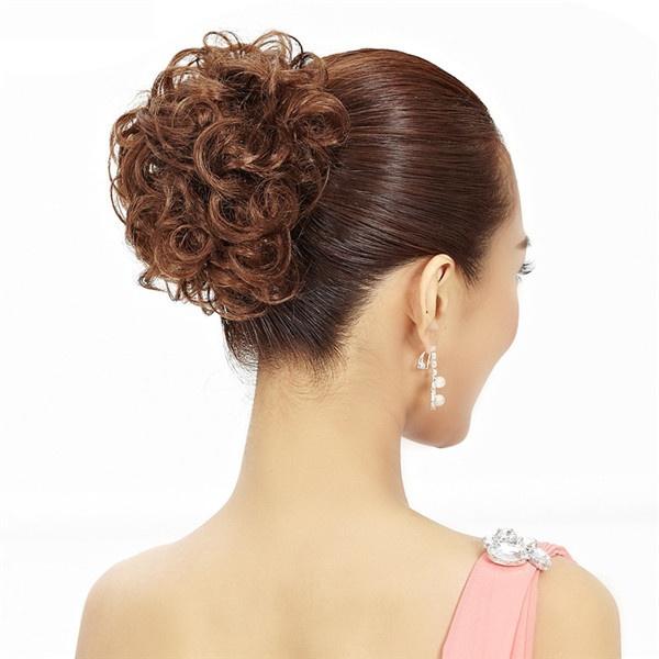 Wish Hair Chignon Elastic Hair Rope Synthetic Hair Bun Extension