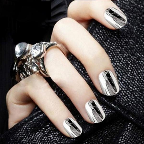 New Fashion Shinning Mirror Powder Gold/Sliver Nail Art Chrome Pigment Glitters DIY