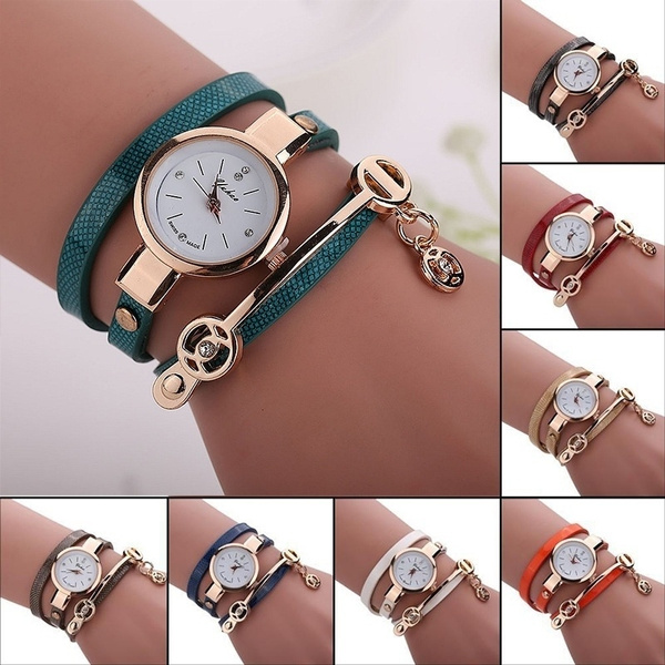 Picture of Leather Casual Bracelet Watch Wristwatch Women Dress Watches Relogios Femininos Watch