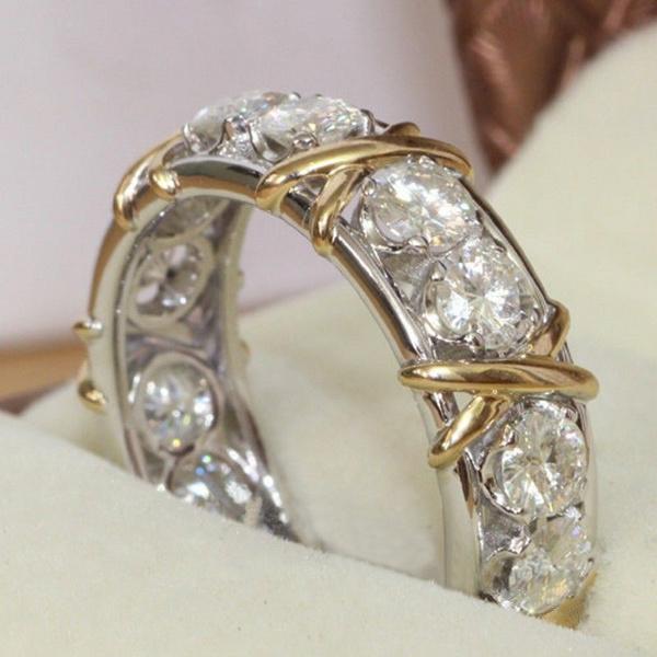eternity, White Gold, weddingengagementring, bandring