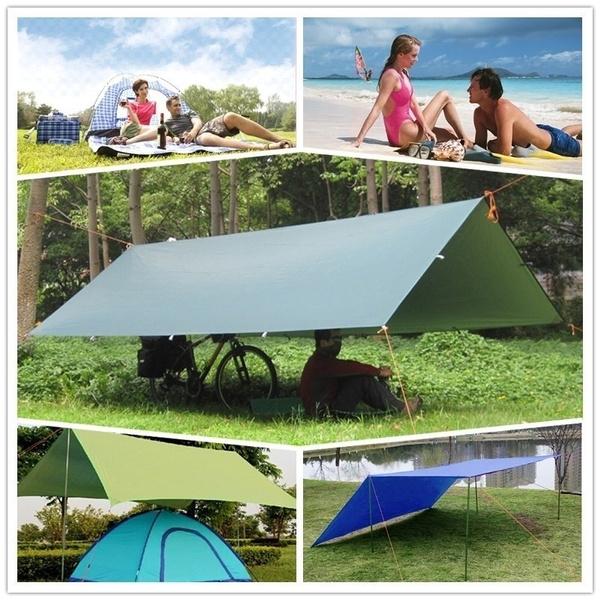 Tent Tarp Rain Sun Shade Hammock Shelter Waterproof Camping Picnic Pad Mat New