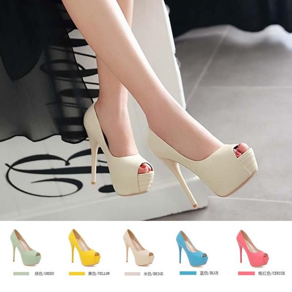 Fashion Women Pumps Platform High Heels Shoes,red,11