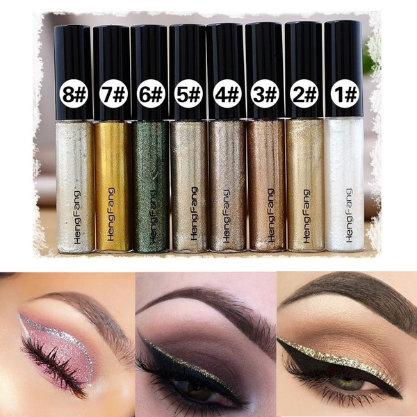 Picture of 1pcs Women Shiny Glitter Long Lasting Eye Liner Waterproof Makeups Eyeliner Liquid Beauty Cosmetic Tool Gift For Girls