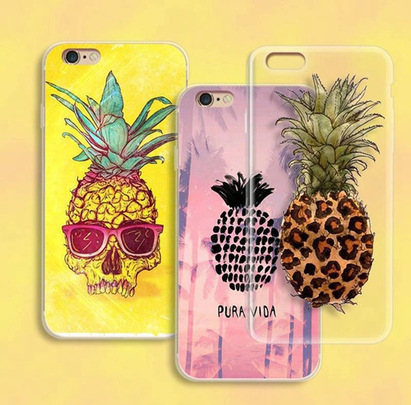 Picture of New Fashion Flower Pineapple Pattern Printed Diy Tpu Phone Case For Iphone 5c/6/6s/6/plus/6s Plus/se Samsung S4/s4/s5/s6/note 2/3/4 Huawei P8/9 Mate7/8etc