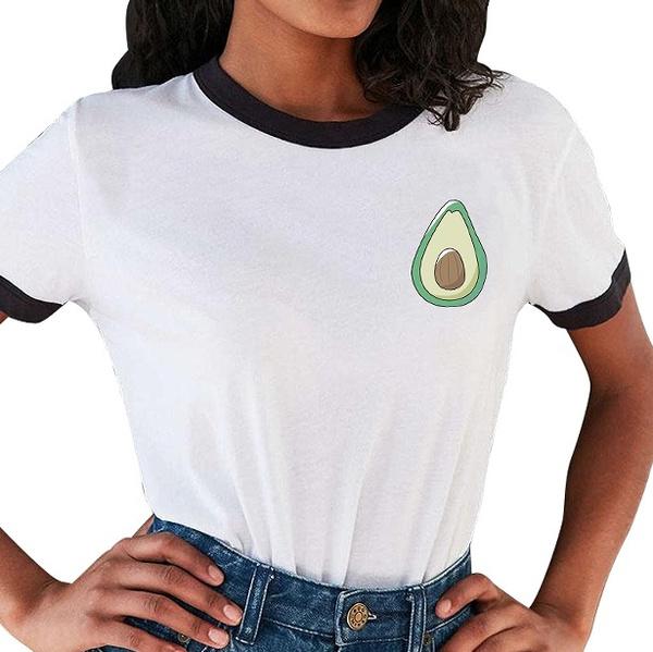 Picture of Avocado Shirt Cute Tumblr Tshirt Drawing Pocket Tee