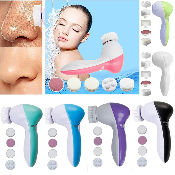 5 in 1 Multifunction Electric Face Facial Cleansing Brush Spa Skin Care massage
