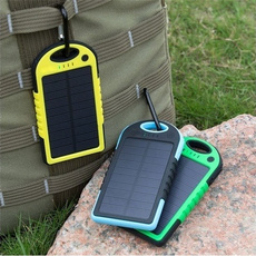 5000 MAh Dual USB Portable Solar Charger with Rain-resistant Dirtproof and Shockproof Function for SmartPhones