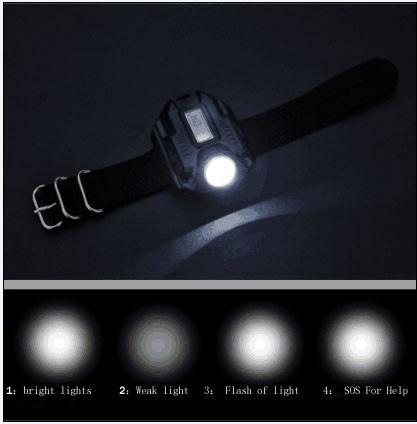 Watch Flash Light Led Watch Flashlight LED Wristlight Rechargeable Lamps Lantern Waterproof Wrist Lighting Torch Outdoor Lamp (Size: 3)