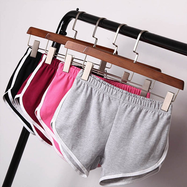 Summer Shorts Women Sports Shorts Gym Workout Waistband Skinny Short