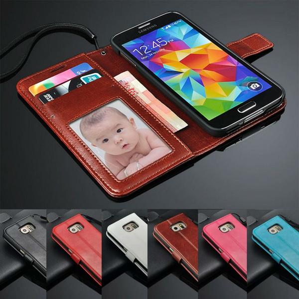 Luxe PU portefeuille en cuir téléphone Mobile S5 housse pour Samsung Galaxy  s 5 i9600 avec porte , cartes