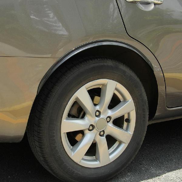 2Pcs 72cm Wheel Eyebrow Universal Car Sticker Rubber Round Arc Strip Fender