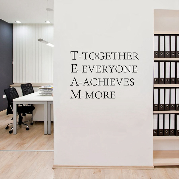 Teamwork Wall Decal Vinyl Lettering Team Motivational Wall Quotes Sticker Inspirational Words Art Decorations Home Office