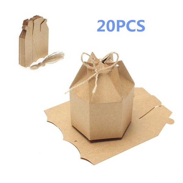 Ysh 20pcs Gift Packaging Paper Box Brown Kraft Cardboard Box Kraft Paper Gift Boxes Natural Craft Kraft Box Hot Sale