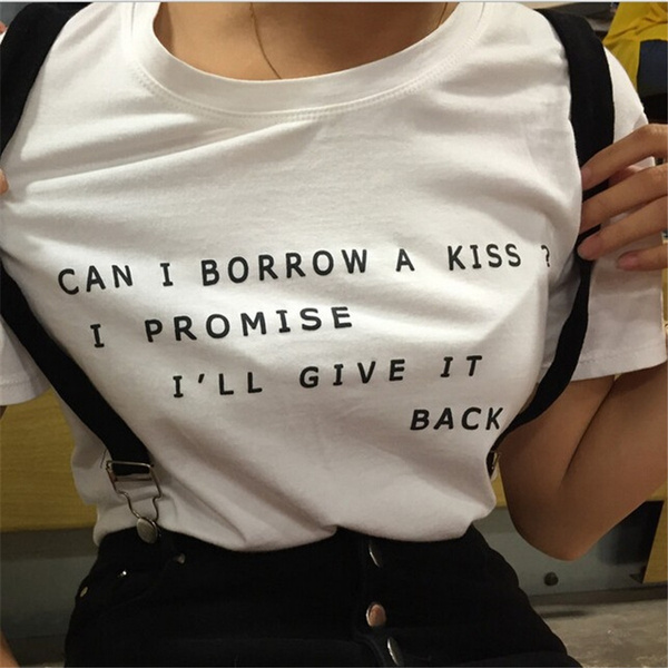 Picture of Can I Borrow A Kiss American T-shirt