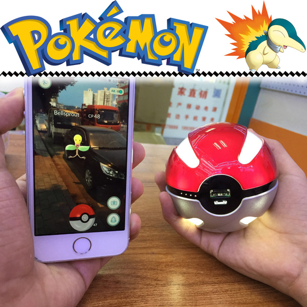Picture of Pokemon Go Pokeball Powerbank 10000mah Led Outdoor Essentials. Color Red