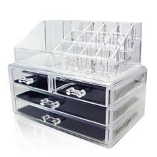 Box, clearmakeuporganizer, acryliccosmeticorganizer, acrylicmakeuporganizer