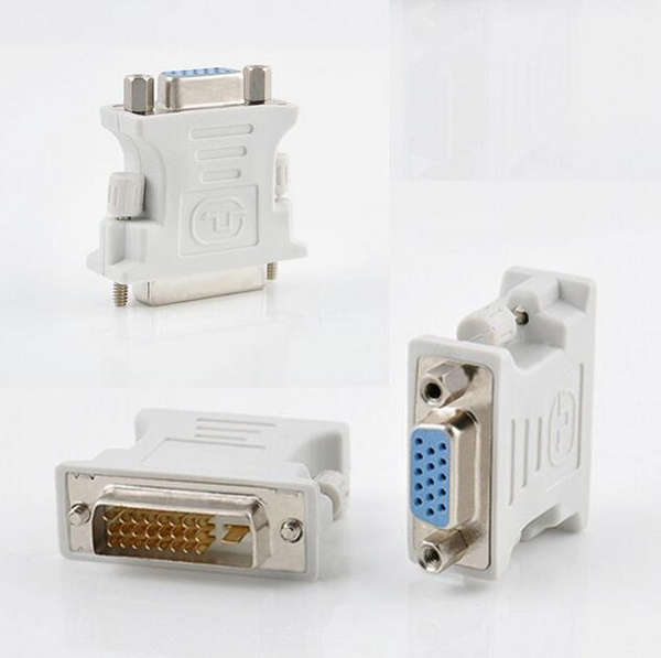 Hot 15 Pin Vga Female To 24 1 Pin Male Dvi D Adapter Video Converter For Pc Laptop Zhai