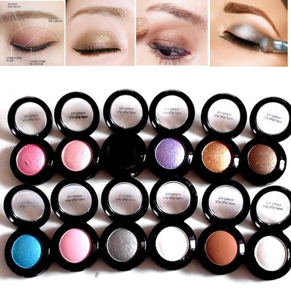 Picture of Professional Soft Light Shine Eye Shadow Makeup Brush Set Long Lasting Single Metallic Eyeshadow Pallete Pigment Shadow Powder