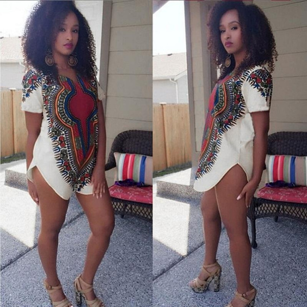 Picture of Fashion Trendy Sexy Women Traditional Tribal African Dashiki Party Hippie Dress