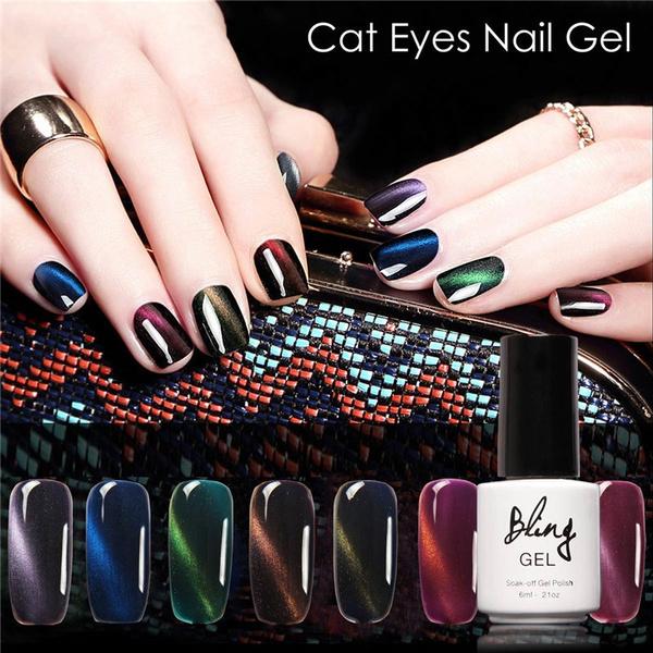 New Bling cat eyes nail gel 30 Colors Magnetic Cat Eye Gel Nail Gel ...