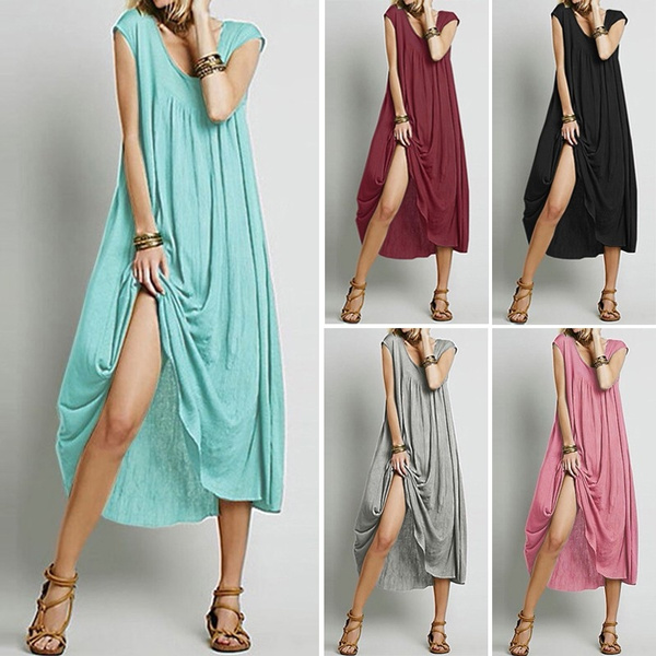 Fashion, vest dress, sundress, long dress