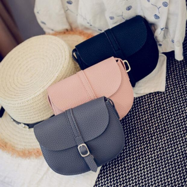 Picture of Women Leather Handbag Cross Body Shoulder Messenger Bag Chasetrend Colorblack/gray/pink