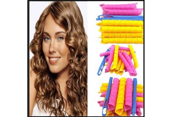 Long 55cm*2.5cm Magic Ringlet Hair Curlers Leverag Curlformers Spiral Rollers