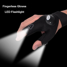 Hot Sale Outdoor Fishing Magic Strap Fingerless Glove with LED Flashlight Torch Cover Survival Camping Hiking Night Rescue Tools FHJ286