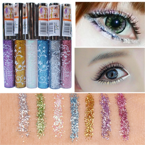 Picture of 7 Color Waterproof Long-lasting Shining Glitter White Gold Eye Liner Pen Liquid Eyeliner Makeup Tools Dyy1384