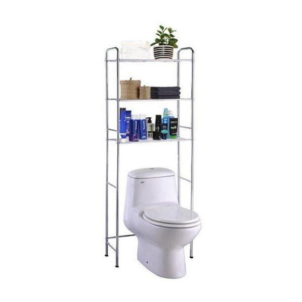 Wish | Bathroom Spacesave Over Toilet Storage 3 Shelf Organizer ...